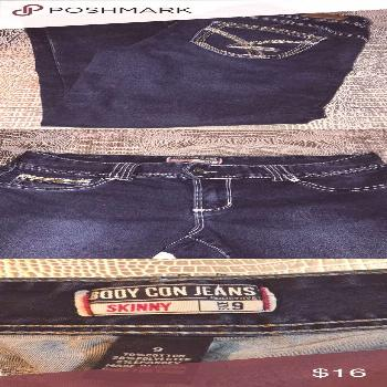 5/$25 Amethyst Body Con Jeans Skinny Amethyst Body Con Jeans Skinny size 9  Material 70% Cotton, 28