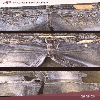 AMETHYST BOOTCUT JEANS Size Junior 7 These jeans are well broke in and welcomes a new owner. In gre