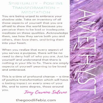Amethyst crystals are good for providing spiritual protection, inner strength, and clarity of mind,