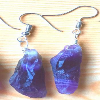 Amethyst Drop Earrings - Eclectic Witchcraft Increase your intuition and improve your witchcraft wi