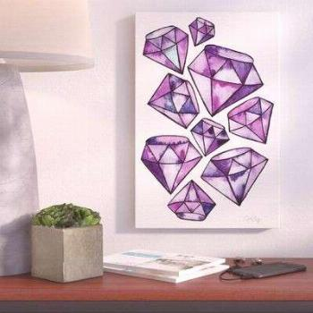 Brayden Studio 'Amethyst Tattoos Artprint' by Cat Coquillette Graphic Art on Wrapped Canvas Size: 1