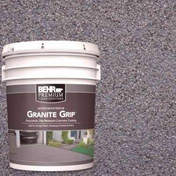 DAICH RollerRock 5 gal. Self-Priming Warm Gray Exterior Concrete Coating-RRPL-WG-189 - The Home Dep