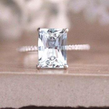****Engagement Ring Details**** 14k Solid White Gold (Also can be made in White and Yellow Gold, Pl