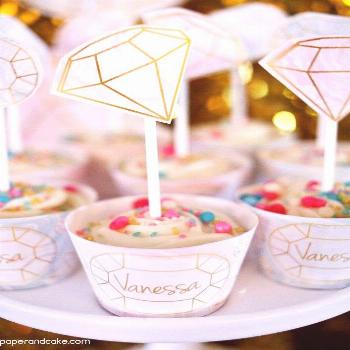 Gemstone Birthday Party Ideas And Decorations Paperandcake Com Birthdayparty Partydecorations edels