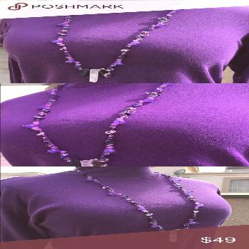 Handcrafted Amethyst Lapis Lazuli Necklace This beaded beauty has amethyst, lapis lazuli and quartz