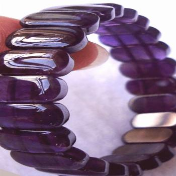 Natural Amethyst Bracelet - Eclectic Witchcraft Wear amethyst for psychic power. // Amethyst meanin