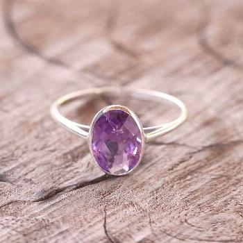 Oval Amethyst Ring - Gardens of the Sun Jewelry This cocktail ring is large enough to make a statem