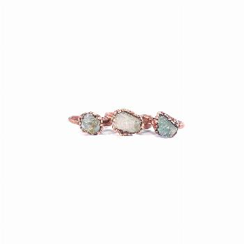 Raw Aquamarine Ring | Aquamarine Ring | March Birthstone Ring | Rough Aquamarine Ring | Dainty Ring