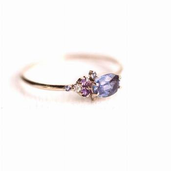 Rings Ideas : $680 Klick for more! For Dreamers Ring Sapphire Iolite Amethyst an... - Jewerly Desin