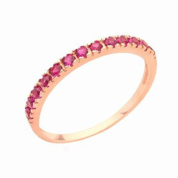 Ruby ring stack ring birthstone ring gemstone ruby jewelry rose gold eternity band