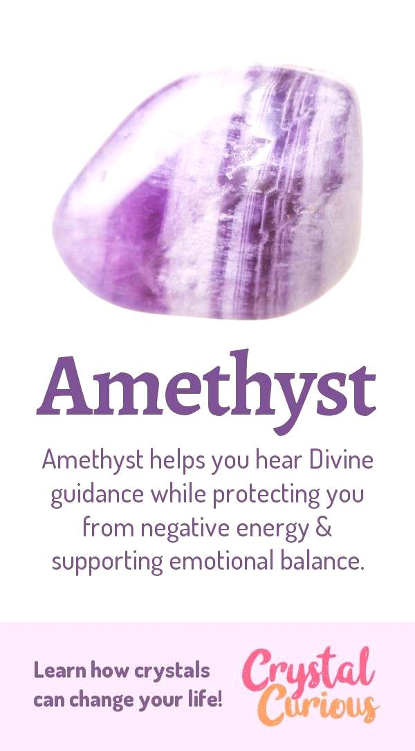 Amethyst Meaning & Healing Properties. Amethyst helps you hear Divine guidance while protecting you