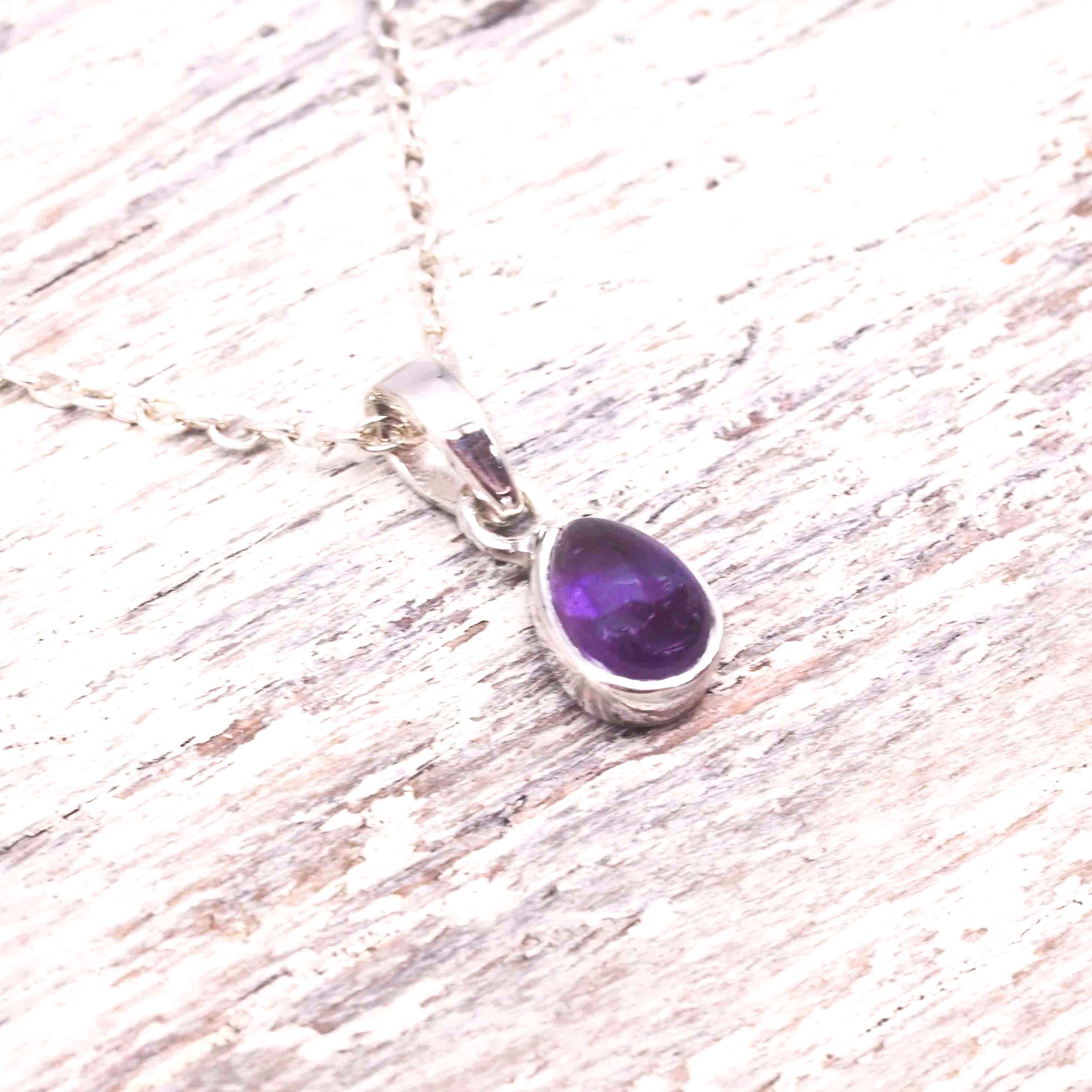 Amethyst Pendant Necklace. Bohemian Gypsy Jewellery. Indie and Harper.