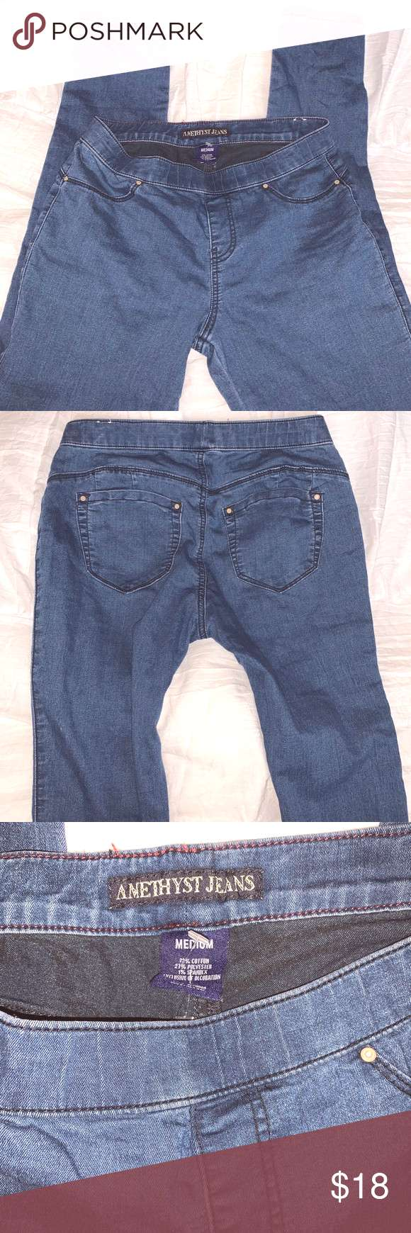 Amethyst pull on jeans size medium Amethyst pull on skinny jean jegging size medium I'd say would