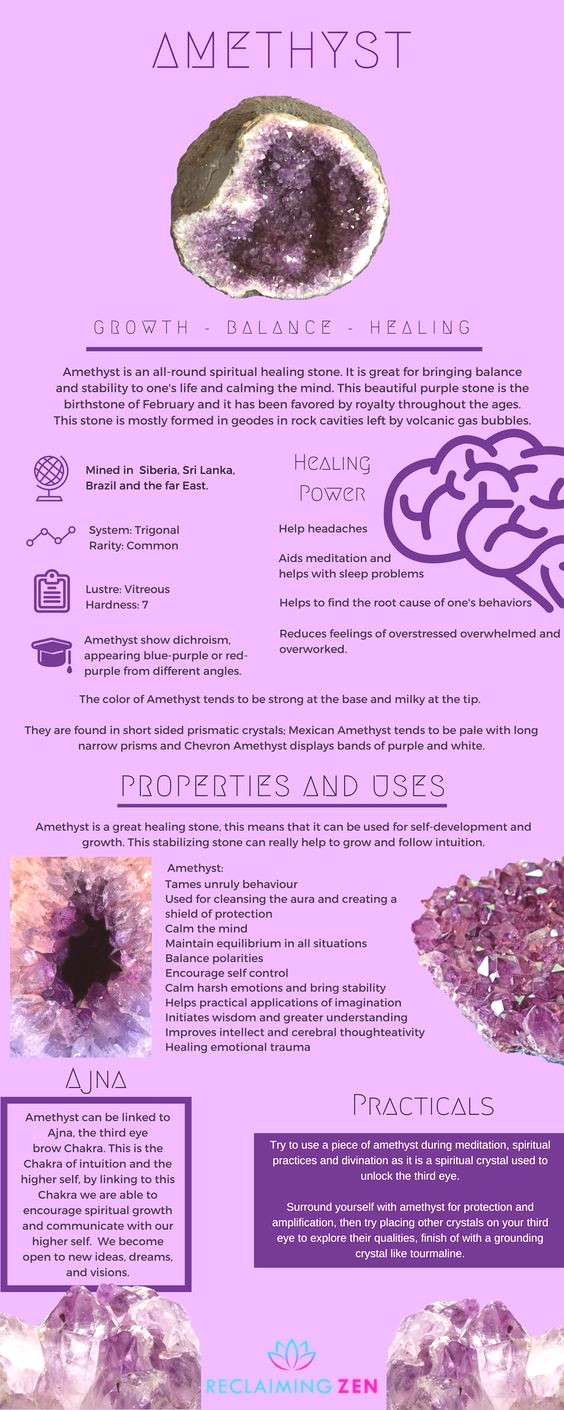 Amethyst the all-round balancing healer. Learn more about this stone and see our fantastic Amethyst