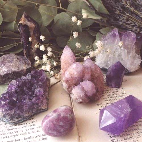 amethyst, witchy, and stone