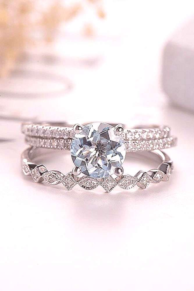 Aquamarine Engagement Rings For Romantic Girls ★