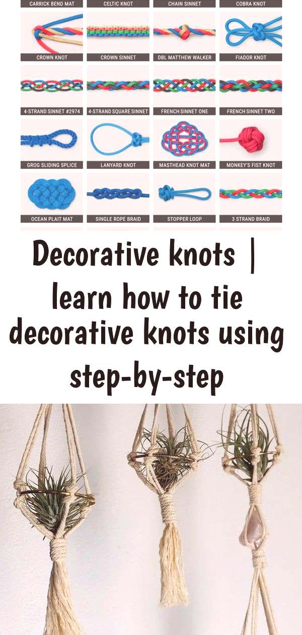 Decorative knots | learn how to tie decorative knots using step-by-step animations | animated knot
