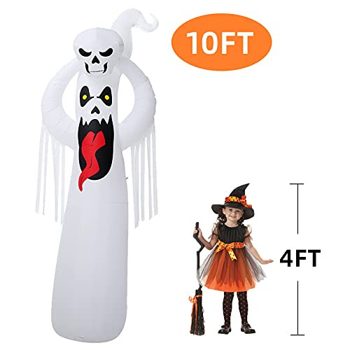 DomKom 10 FT Halloween Inflatable Decorations Giant Terrible