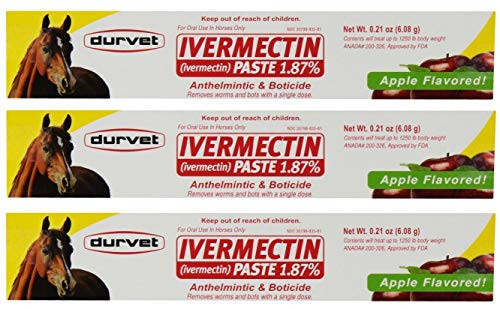 Durvet Ivermectin Paste 1.87% Removes worms and bots - 3