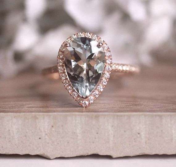 ****Engagement Ring Details**** 14k Solid Rose Gold (Also can be made in White and Yellow Gold, Ple