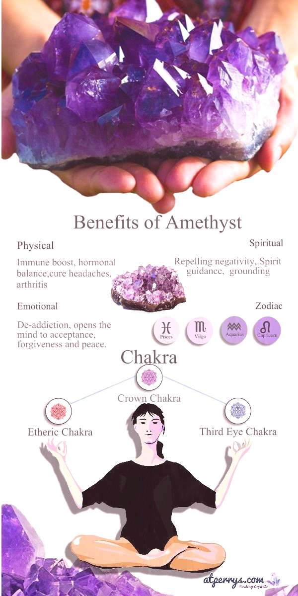 Finding it hard to keep your thoughts on the ground? Amethyst is a stone right out of fantasies and