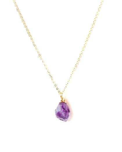 I Am Intuitive Amethyst Necklace