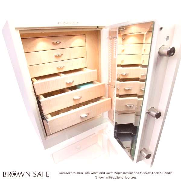 Jewelry Safe: Our Compact Jewelry Safe Offering The Gem 2418 is the ideal solution for a convenient