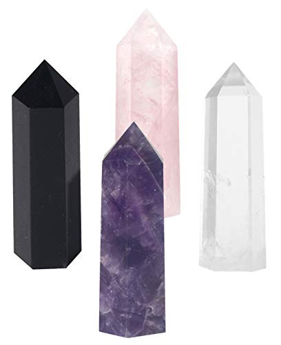 Luckeeper Healing Crystal Wands,2quot Amethyst Crystal, Rose
