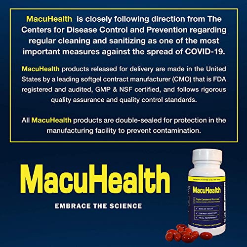 MacuHealth Eye Vitamins Supplement for Adults (90 Softgels,