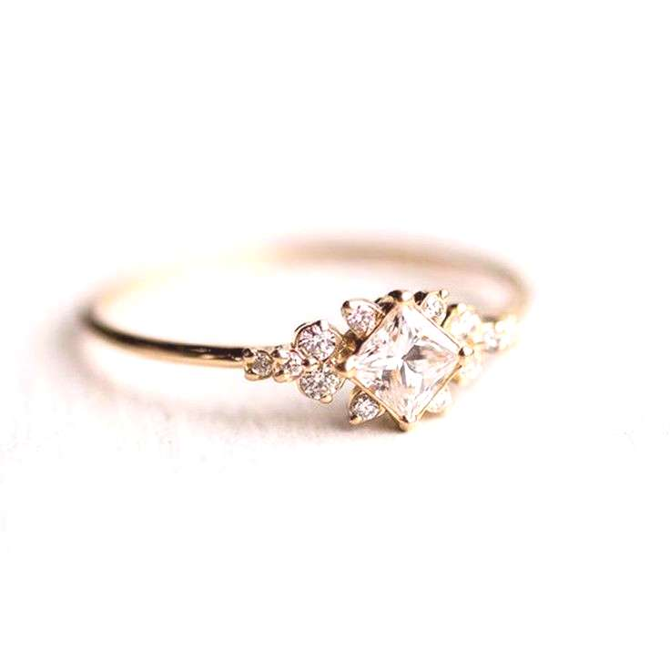 Material : 18K Yellow Gold Plated. Main Stone : White Sapphire. Your opinion is very importan our b