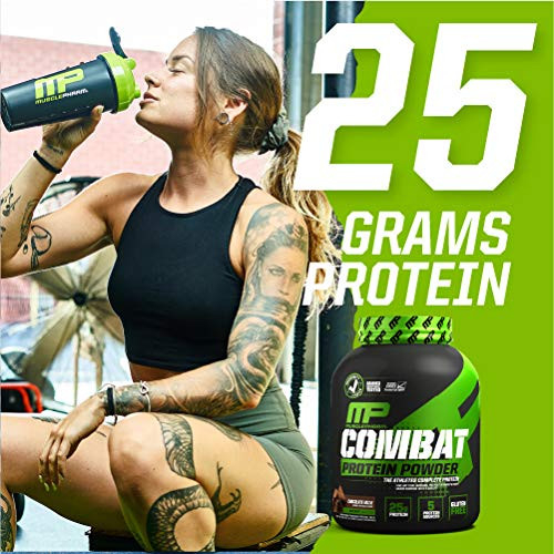 MusclePharm Combat Protein Powder, 5 Protein Blend,