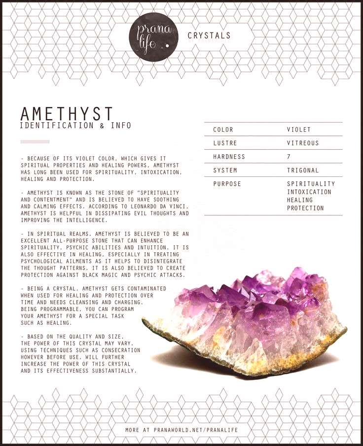 Prana Life | Amethyst . My favorite color, Amethyst has always been my most collected and favorite