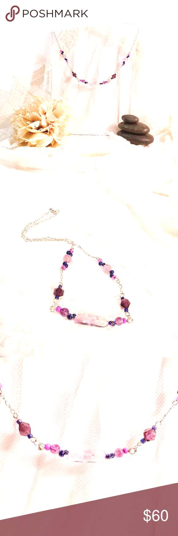 Pretty in Purple Amethyst Necklace Shades of purple set in a beautiful chain bring elegance and sty