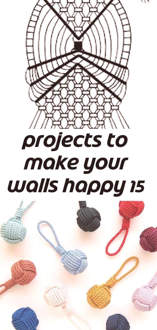 Projects to make your walls happy 15 Projects to Make Your Walls Happy Handmade vintage color rope