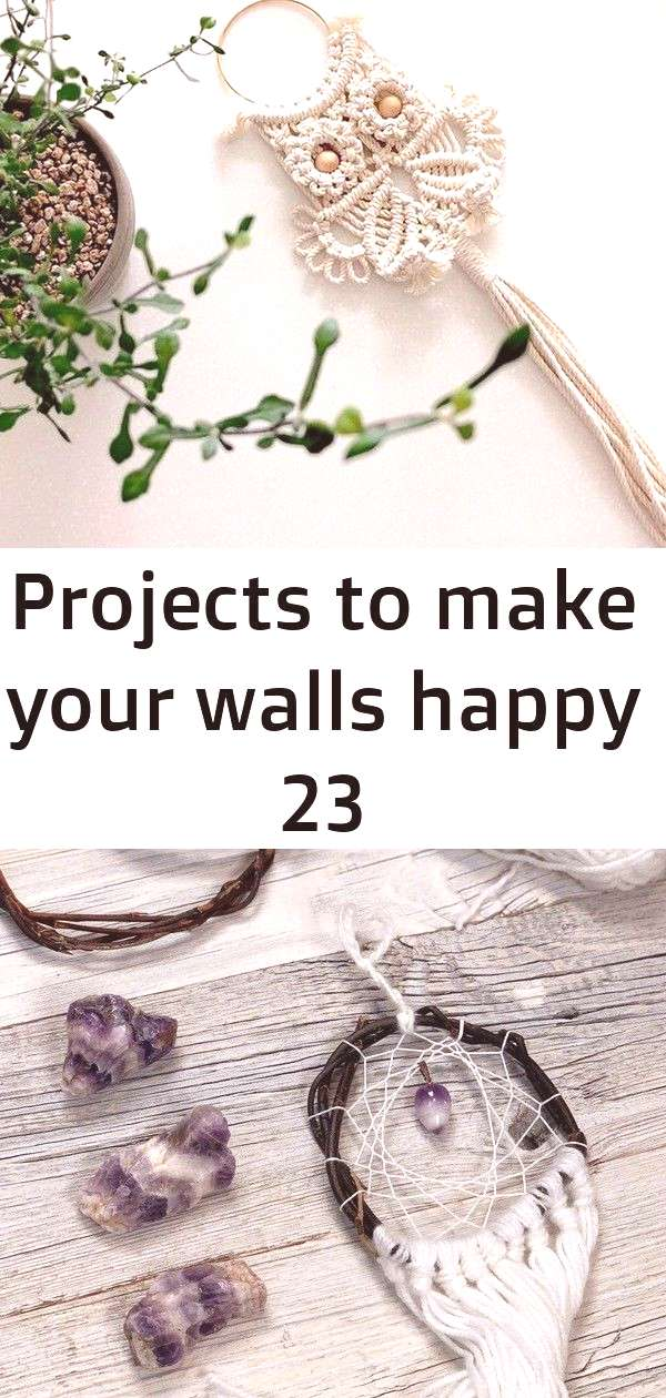 Projects to make your walls happy 23 Projects to Make Your Walls Happy Freue mich, euch diesen Arti