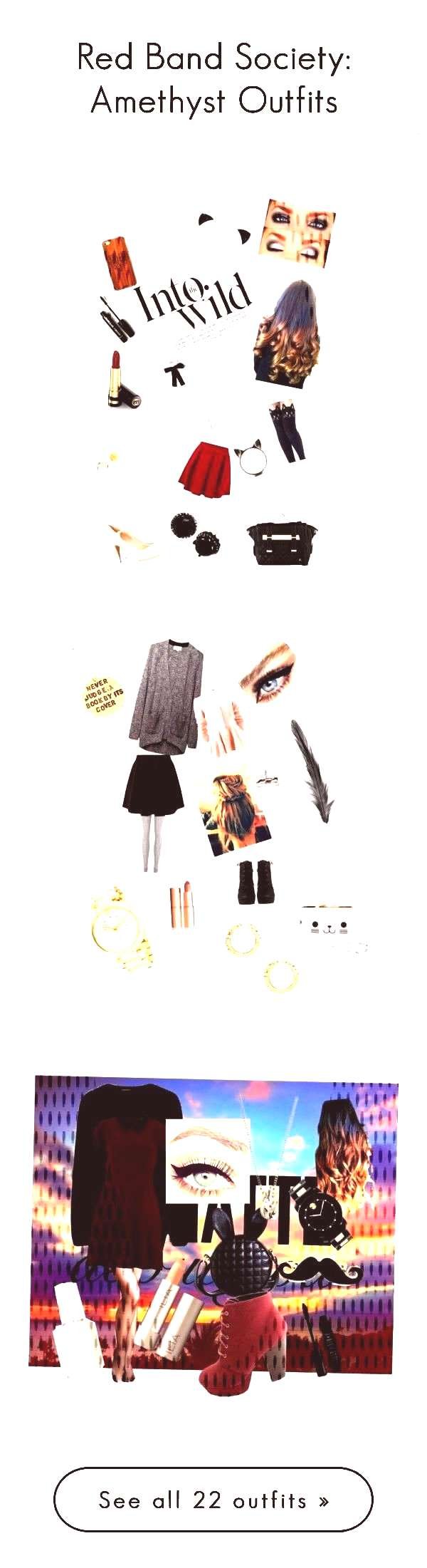 quotRed Band Society Amethyst Outfitsquot by littlebookowl16 on Polyvore...