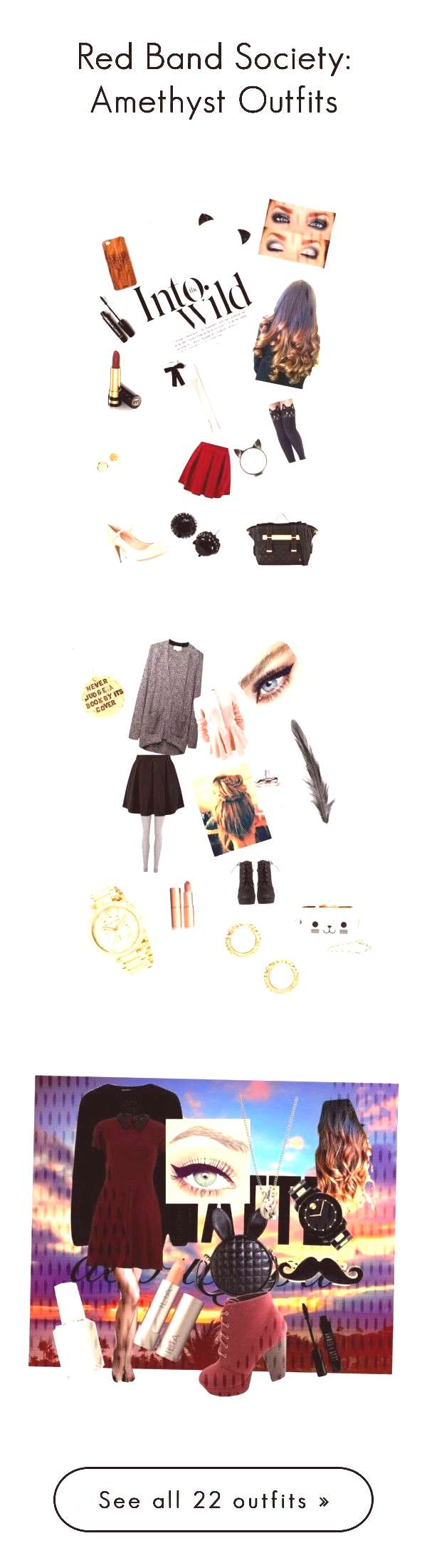 quotRed Band Society Amethyst Outfitsquot by littlebookowl16 on PolyvorequotRed Band Society Amethyst Outf