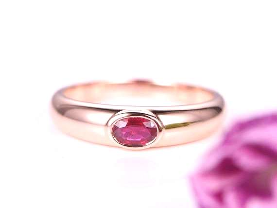 Ruby ring 1.02ct natural ruby engagement ring wedding ring for men gemstone bridal ring 14k Plain g
