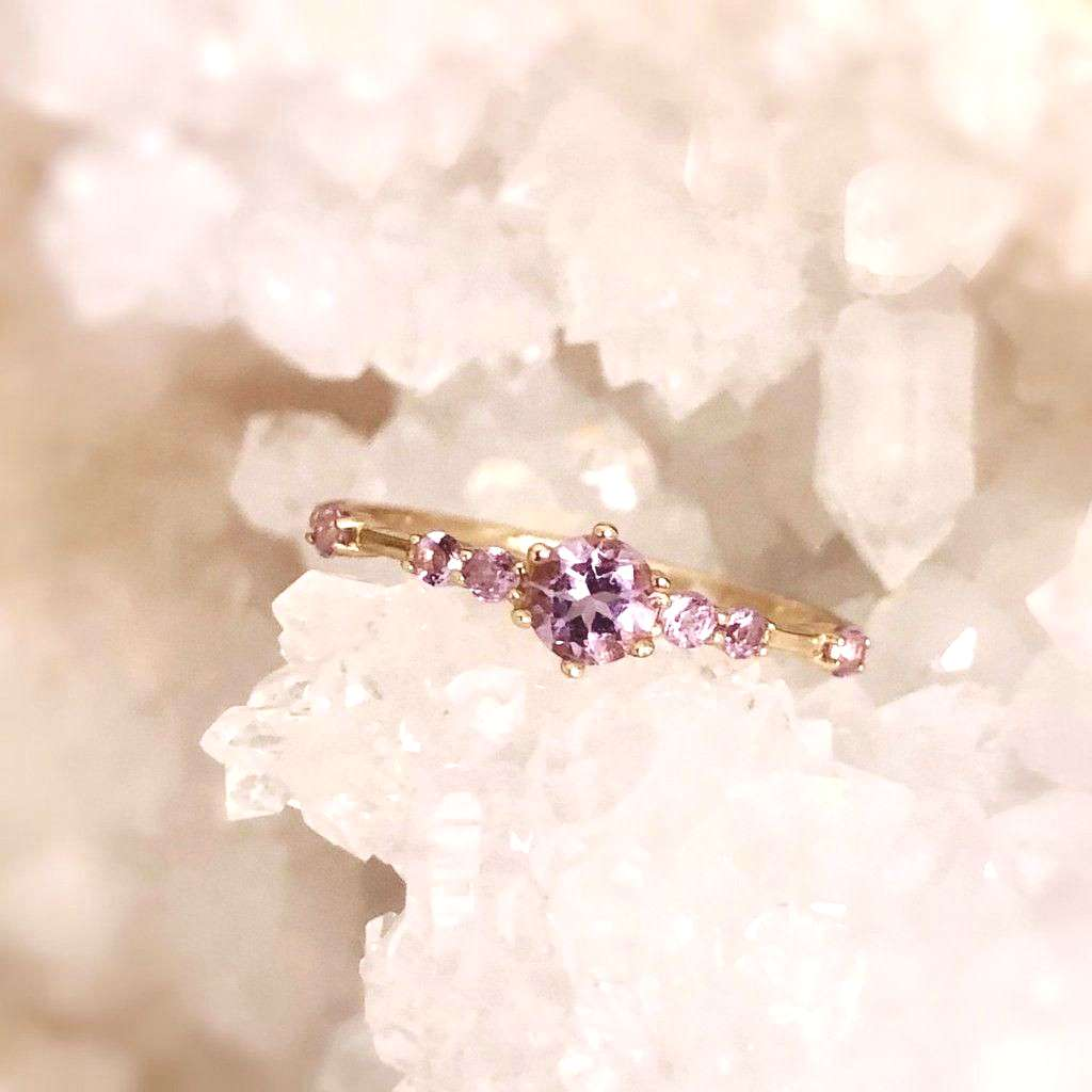The Center of the Universe Amethyst Ring – Azura Jewelry