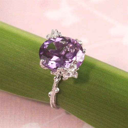 Unique Purple Amethyst Ring by 4FireflyCollections on Etsy