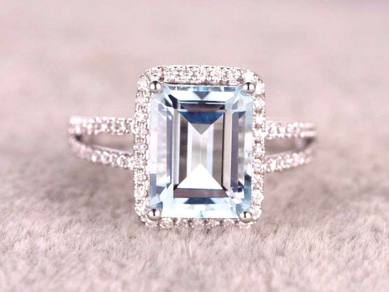 We are making serious eyes at these swank & colorful engagement rings
