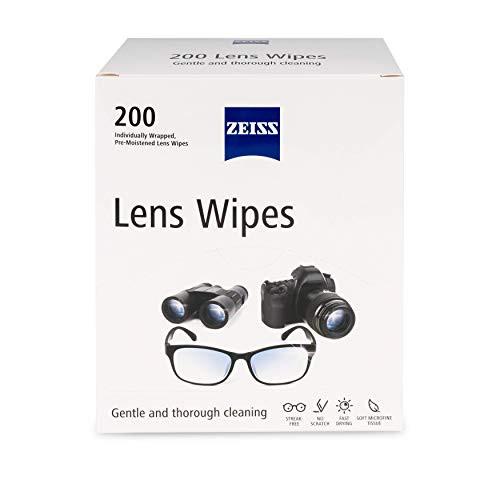 Zeiss Pre-Moistened Lens Cleaning Wipes, 200 Count (Pack of